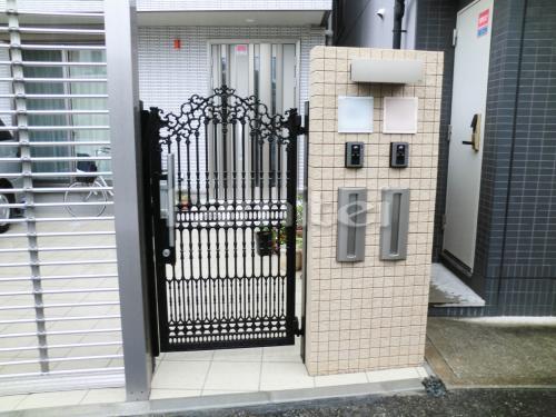 タイル門柱 INAX ザルトロック 郵便受け 四国化成 アルメール UT2型 鋳物門扉 四国化成 ロードス2型