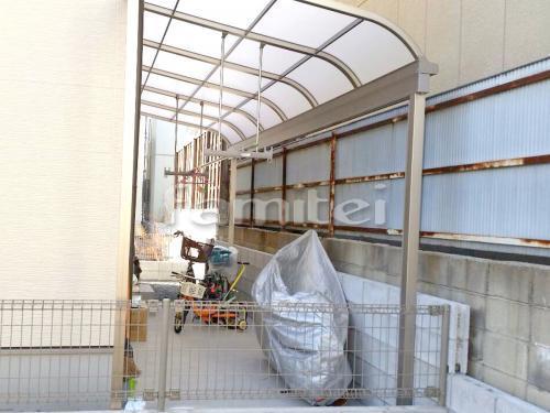 洗濯干し屋根 レギュラーテラス屋根 1階用 R型アール屋根 物干し 土間コンクリート