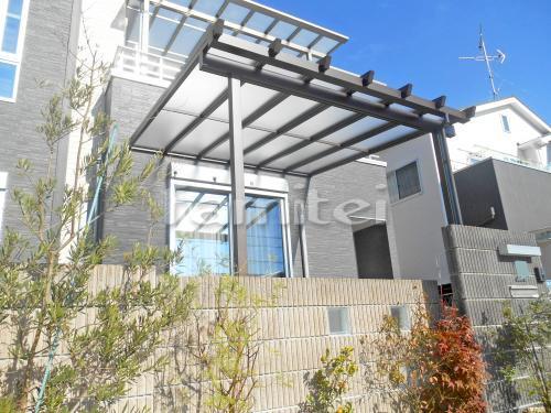 フル木製調テラス屋根(パーゴラ風) 三協アルミ ナチュレ 1階用 F型フラット屋根