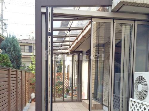 木製調ガーデンルーム LIXILリクシル ジーマ TOEXトエックス サンルーム 内部日除け 収納網戸 クリーンハンガー