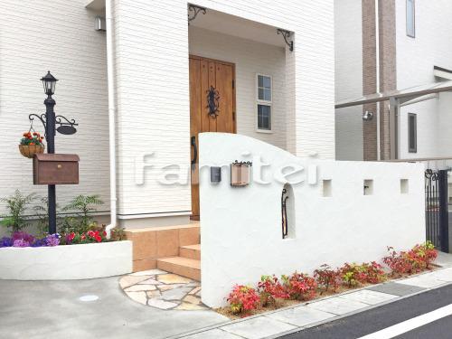 玄関まわり 門袖 飾り 門柱 門扉