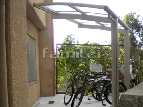 自転車バイク屋根 プライスポートミニ 駐輪場屋根 サイクルポート R型アール屋根 土間コンクリート