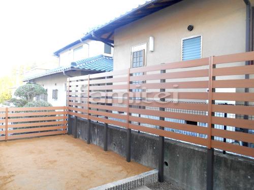 木製調目隠しフェンス塀 F&F マイティウッド 樹脂