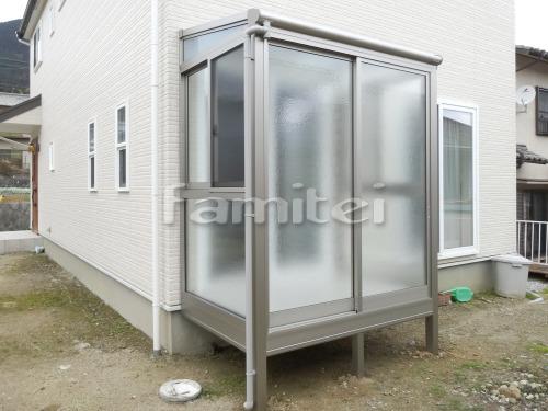 ガーデンルーム YKKAP 目隠しサンフィール3 F型フラット屋根 テラス囲い サンルーム 網戸