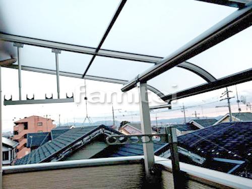 ベランダ屋根 YKKAP ヴェクターテラス屋根(ベクター) 2階用 R型アール屋根 物干し