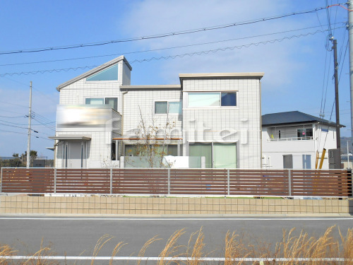 木製調目隠しフェンス塀 YKKAP ルシアスF04型 化粧ブロック