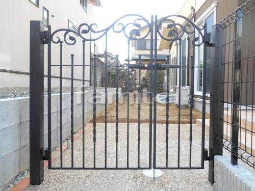 玄関鋳物門扉 LIXILリクシル ラフィーネ1型 04・08-12 親子両開き