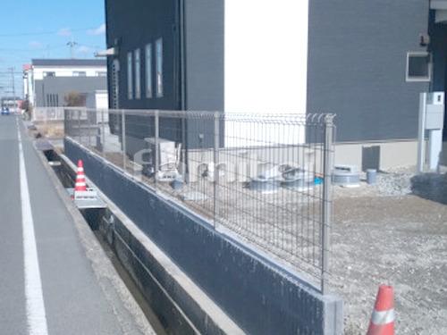 境界フェンス塀 LIXILリクシル ハイグリッドフェンスUF8型