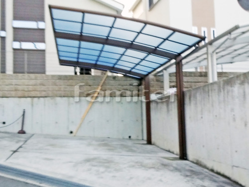 カーポート YKKAP レイナポートグラン 1台用(単棟) R型アール屋根