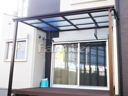 雨除け屋根 YKKAP ソラリアテラス屋根 1階用 F型フラット屋根 物干し