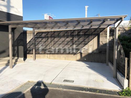 カーポート LIXILリクシル ネスカF 横2台用(ワイド ツイン) F型フラット屋根 土間コンクリート