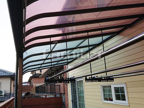 雨除け屋根 YKKAP ソラリアR 1階用 R型アール屋根