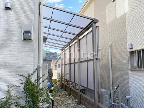 雨除け屋根 LIXILリクシル スピーネ 1階用 F型フラット屋根 目隠しパネル(前面 正面)
