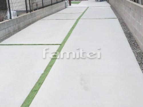 駐車場ガレージ床 土間コンクリート 目地 人工芝
