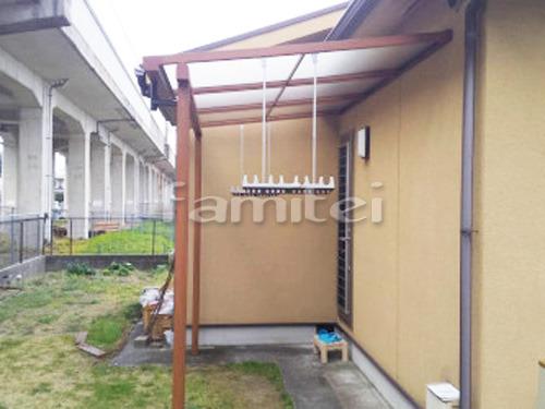 フル木製調テラス屋根(パーゴラ風) 三協アルミ ナチュレ 1階用 F型フラット屋根 物干し