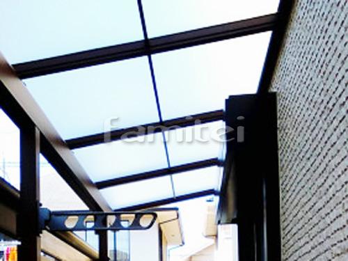フル木製調ベランダ屋根(パーゴラ風) 三協アルミ ナチュレS 1階用 F型フラット屋根 物干し