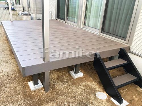 人工木材ウッドデッキ LIXILリクシル 樹ら楽ステージ(きらら) 樹脂 階段ステップ2段