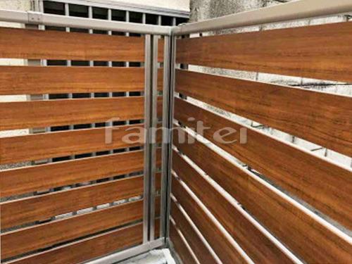 木製調目隠しフェンス塀 YKKAP ルシアスF04型