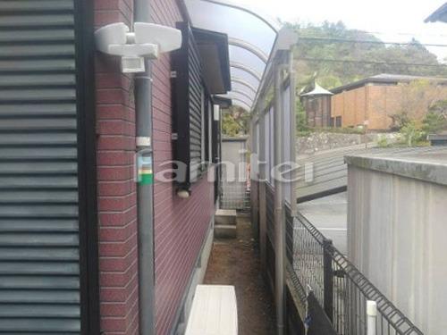 雨除け屋根 YKKAP ソラリアテラス屋根 1階用 R型アール屋根 目隠しパネル(前面 正面) 1段