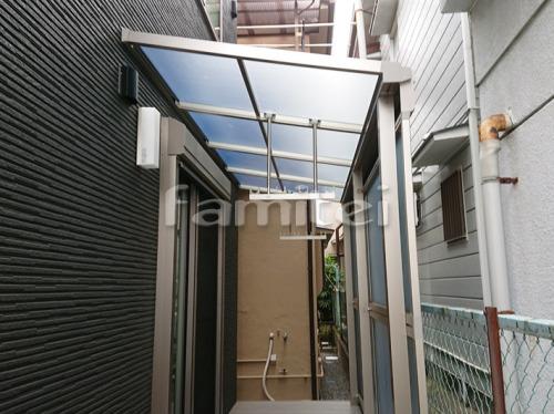 雨除け屋根 YKKAP ソラリアテラス屋根 1階用 F型フラット屋根 目隠しパネル(前面 正面) 物干し