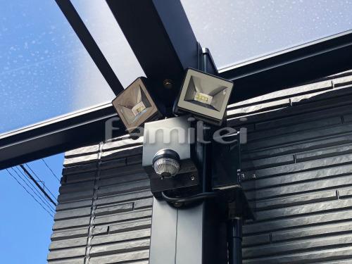 防犯照明 TAKASHOタカショー セキュリティライト2灯型 カーポート取付