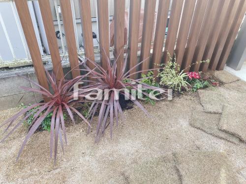 木製調デザインアルミ角柱 LIXILリクシル デザイナーズパーツ 植栽 下草 低木