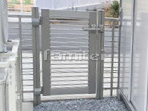 勝手口門扉 YKKAP シンプレオ9型 10-06 横粗格子 片開き 境界フェンス塀 シンプレオ9型 横粗格子