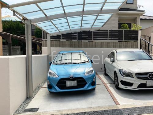駐車場ガレージ床 土間コンクリート  レンガ目地 ユニソン ウォールドユーロ アンジェブリック