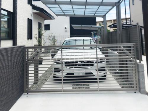 電動跳ね上げ式門扉 LIXILリクシル オーバードアS1型 1台用 アップゲート 駐車場ガレージ床 土間コンクリート