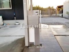 施工例画像:機能門柱 LIXILリクシル ファンクションユニット ウィルモダン 既存モダン門柱撤去