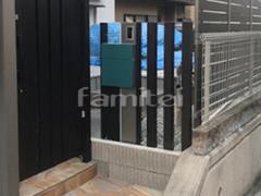 施工例画像:機能門柱 LIXILリクシル ファンクションユニット ウィルモダン 木製調デザインアルミ角柱 プランパーツ 角材