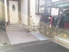 施工例画像:玄関まわり 機能門柱 YKKAP シンプレオ1型 植栽撤去