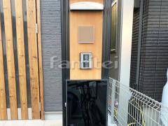 施工例画像:機能門柱 ユニソン カーサーAD400 郵便受けポスト プラスト
