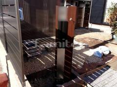 施工例画像:玄関まわり 機能門柱 YKKAP ルシアスポストユニットBS02型