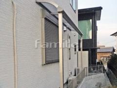 施工例画像:雨除け屋根 YKKAP ソラリアテラス屋根 1階用 R型アール屋根