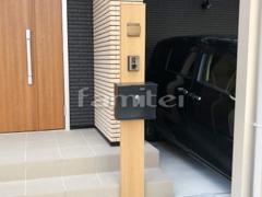 施工例画像:玄関まわり 機能門柱 YKKAP ルシアスポストユニットB01型