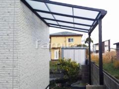 施工例画像:雨除け屋根 LIXILリクシル スピーネ 1階用 F型フラット屋根
