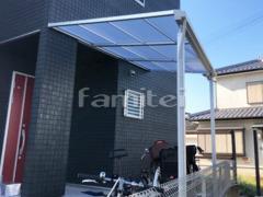 施工例画像:雨除け屋根 LIXILリクシル スピーネ 1階用 F型フラット屋根 物干し