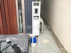 施工例画像:玄関まわり 機能門柱 YKKAP シンプレオ1型
