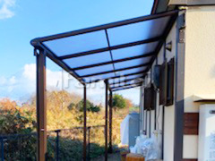 施工例画像:雨除け屋根 フラットテラス屋根 1階用 F型フラット屋根 既存テラス解体撤去