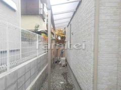 施工例画像:雨除け屋根 フラットテラス屋根 1階用 F型