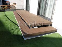 施工例画像:人工木ウッドデッキ YKKAP リウッドデッキ20