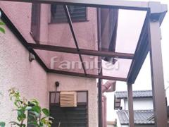 施工例画像:雨除け屋根 YKKAP ソラリアテラス屋根 1階用 F型フラット屋根