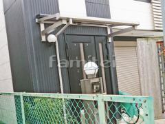 施工例画像:柱なし雨除け屋根 YKKAP ソラリアテラス屋根 1階用 F型フラット屋根