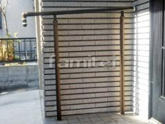 施工例画像:玄関アプローチ階段手摺り(手すり) YKKAP パルトナーUD 1型