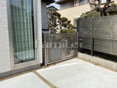 施工例画像:玄関まわり 門扉 LIXILリクシル プレスタ3型 12-08 両開き