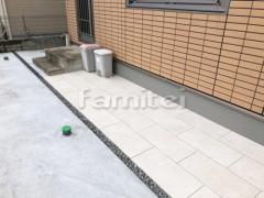施工例画像:お庭のアプローチ 床タイル貼り LIXILリクシル グラヴィナ GRV-1
