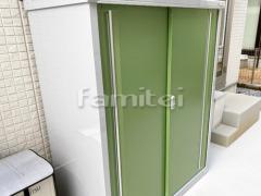施工例画像:イナバ物置 シンプリー MJXー136DP 野外物置き 収納庫 倉庫
