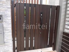 施工例画像:玄関門扉 LIXILリクシル 開き門扉AA TS1型 16-05・09 親子両開き