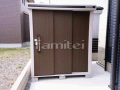施工例画像:ヨド物置 エルモ LMDS-1818 野外物置き 収納庫 倉庫